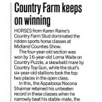 Country Farm Keeps on Winning
