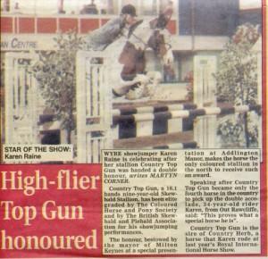 High Flier Top Gun Honoured